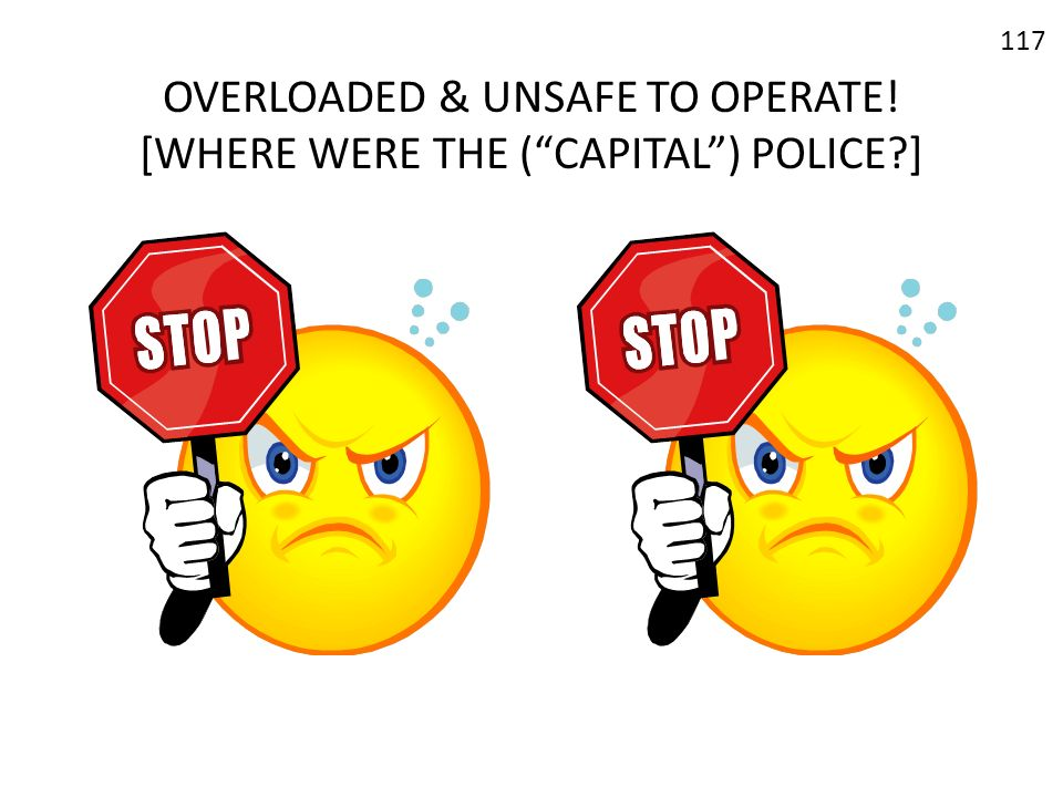OVERLOADED & UNSAFE TO OPERATE! [WHERE WERE THE ( CAPITAL ) POLICE ]